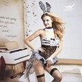9730 coelho menina de coelho trajes mulheres cosplay sexy halloween adulto animais costume fancy dress clubwear desgaste do partido plus size