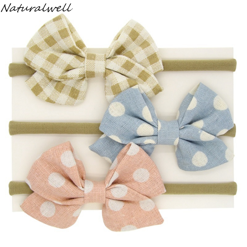 Naturalwell Baby Girls Hair bows Toddler Kids elastic hair accessories Newborns hair accessories bows hairbands 1set HB126 1set kawaii kids ribbon hair bows accessories barrette hairpin for child girl hair ornaments clips pin hairclip headdress