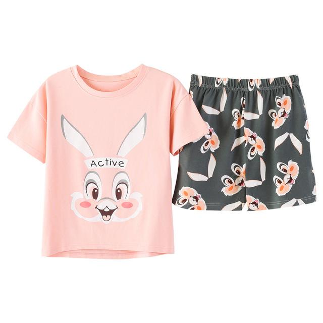 Pajamas sets women M-2XL bust 90-110cm  Sleepwear Pyjamas Women Roupas Feminina Sleepwear Women 8723