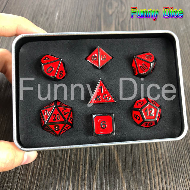 Christmas Board Games 2019.Us 26 98 2019 Hot Board Game 100 Real Metal Dice With Case For Dungeons And Dragons Rpg Christmas Gift In Board Games From Sports Entertainment