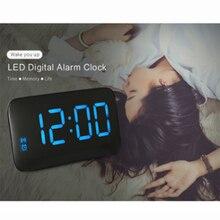 Креативная многофункциональная зарядка смарт-будильник синхронизация звуковой контрольный светодиод Подсветка Повтор может быть часы сообщения A10993