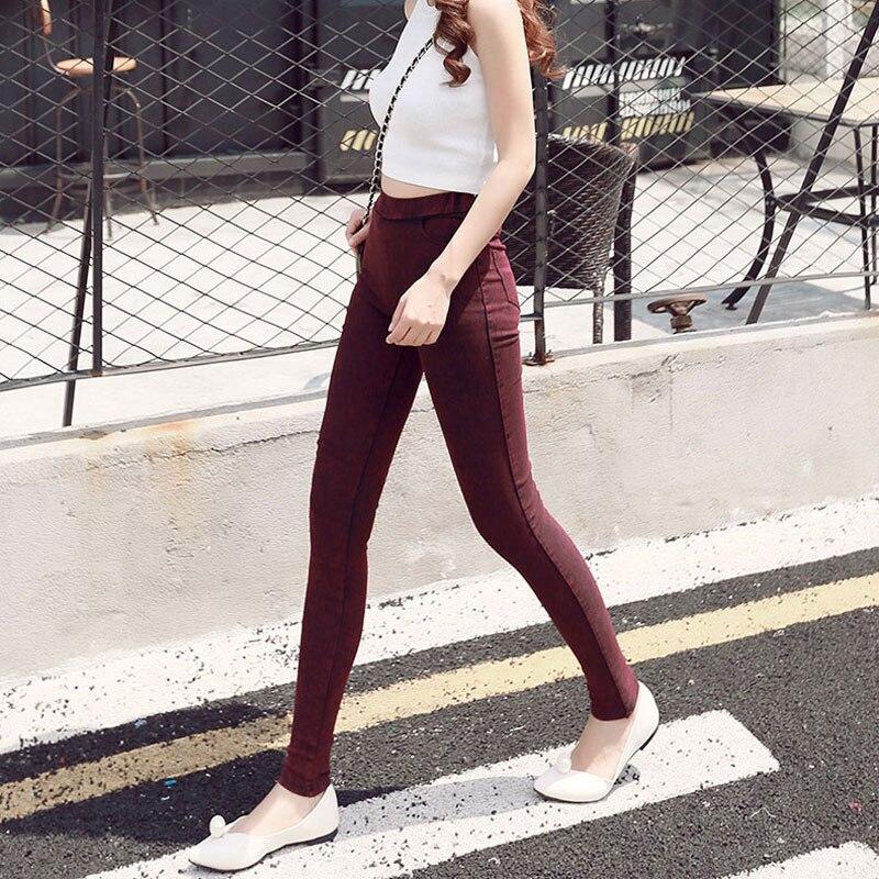 BIVIGAOS Fashion Women Casual Slim Stretch Denim Jeans Leggings Jeggings Pencil Pants Thin Skinny Leggings Jeans Womens Clothing 3