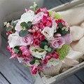 Искусственный букет Лес Отдел Вырос рамо де novia mariage bruidsboeket флер букет свадебный букет невесты bruidsboeket