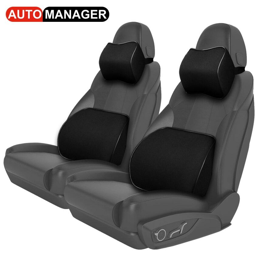 Almofada Da Cintura do carro Massagem Nas Costas Travesseiro Assento Auto para BMW de Golfe Volvo Universal Acessórios Do Carro de Apoio Lombar Almofadas para Cadeiras