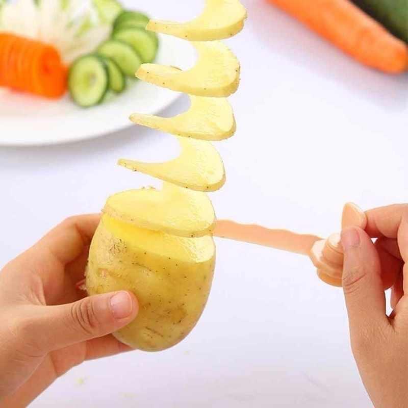 תפוחי אדמה מגדל ביצוע מחרוזת לסובב תפוחי אדמה מבצע ירקות מגולף גזר בורג מבצע מטבח אבזרים