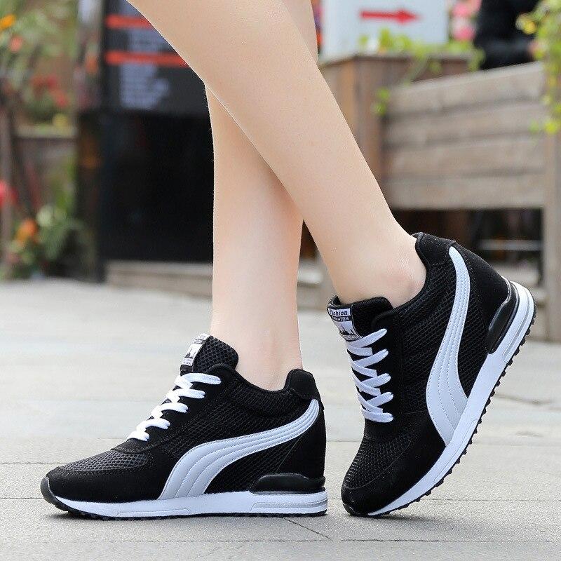 2018 Fashion Women Clunky Sneakers Womens Light Mesh Breathable Casual Shoes Woman Tenis Feminino Shoe
