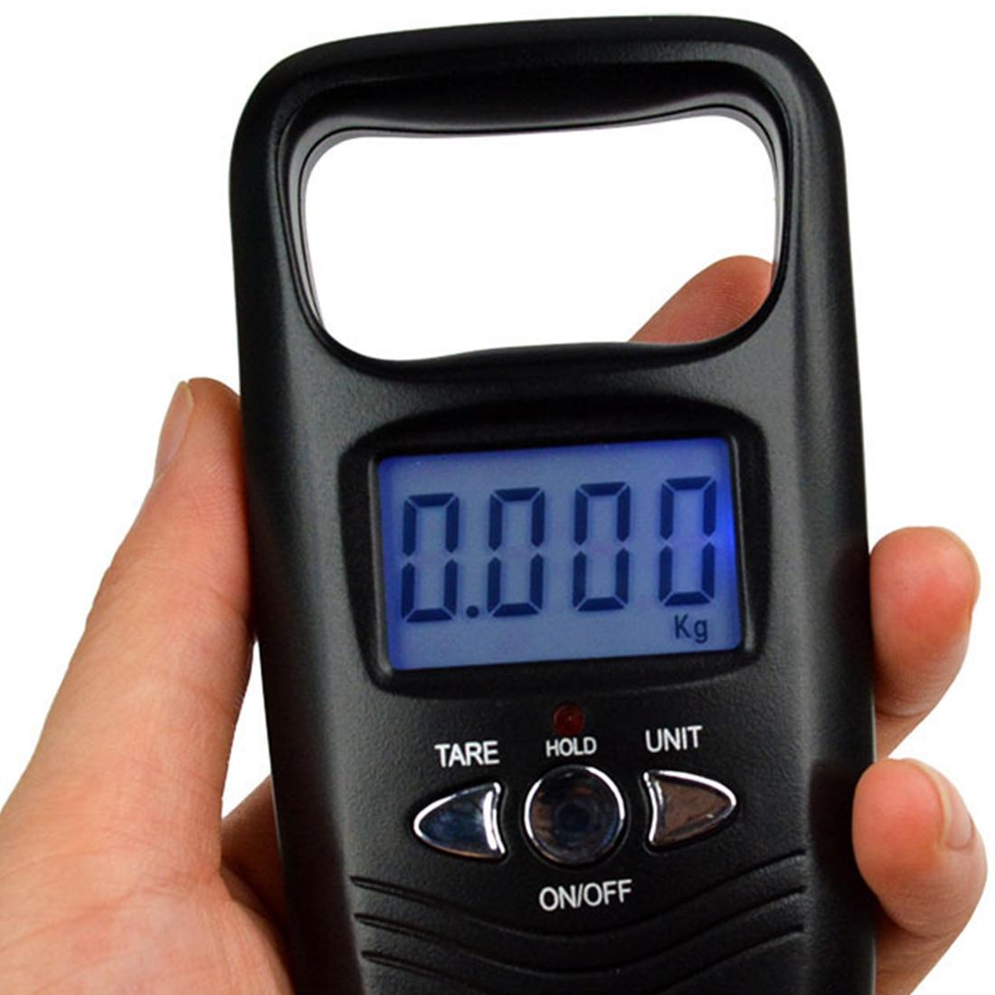 Мини-весы карманные портативные 50кг LCD Цифровые подвесные багажные вес ing рыболовный крючок Вес рыбы