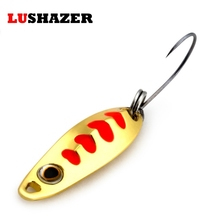 LUSHAZER spinner spoon 1.2g jig metal ice winter fishing lure iscas artificiais para pesca carp fishing accessories