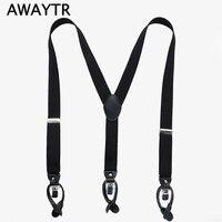 2017 Fashion Style Black 110cm Braces Men Suspenders Mens 3 Clip Buckle Suspenders for Women Belt Strap Adjustable Suspender