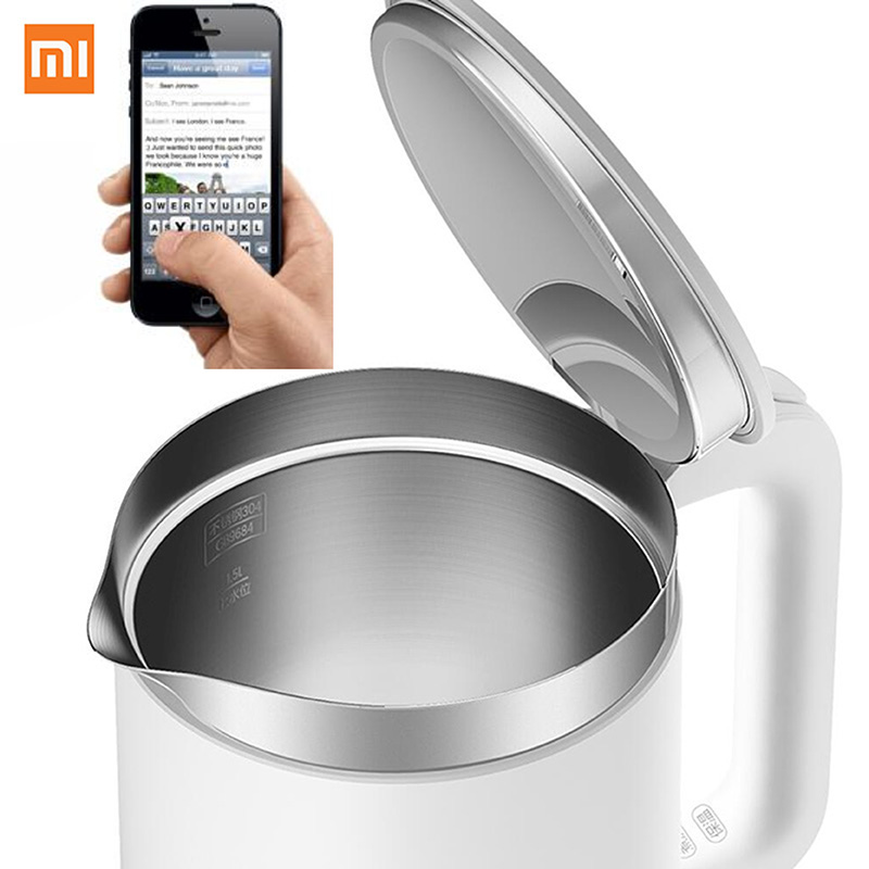 Smart APP Control Original XiaoMi Mijia 1.5L Constant Temperature Electric Water Kettle 24 Hour thermostat Hot Water Maker thermostat temperature control kettle top base set socket electric kettle parts
