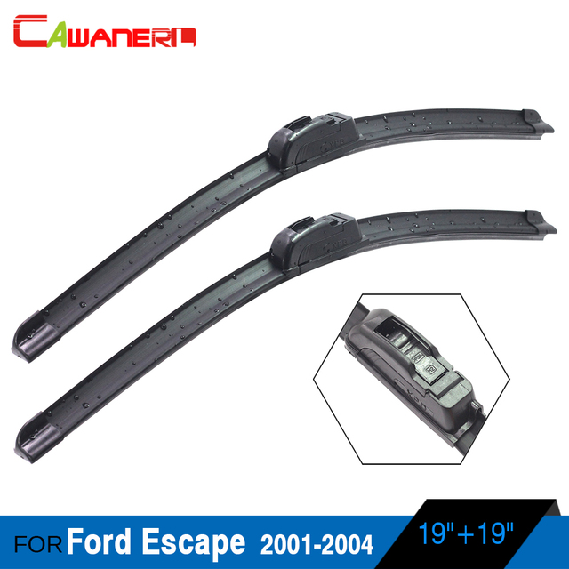 Cawanerl 2pcs Car Front Windscreen Wiper Blade Soft Rubber Windshield For Ford Escape 2001 2004