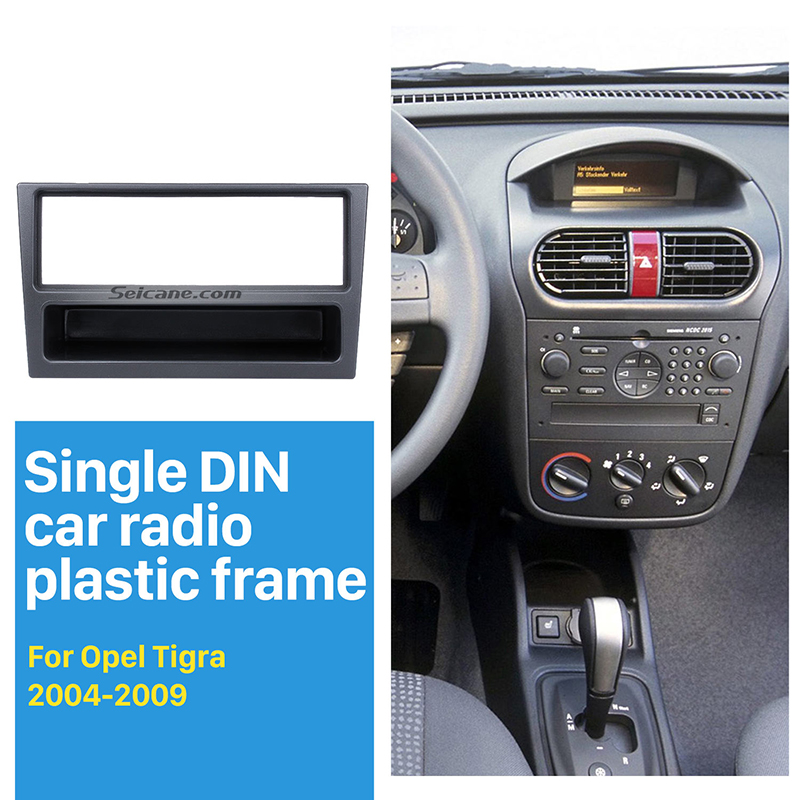 Seicane Single Din Car Radio Fascia Trim Kit for <font><b>OPEL</b></font> Corsa (C) Meriva Omega (<font><b>B</b></font>) <font><b>Vectra</b></font> Vivaro Frame Surround Panel Stereo Dash image