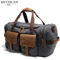 Muchuan Cloth Manufacturers Selling Bags Canvas Shoulder Inclined Shoulder Bag Large Capacity Bag Handbag Boom Duffel