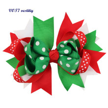 2017 Christmas best gift for girl VOT7 vestitiy Christmas Ornaments Bowknot Hairpin Headdress Cloth headband Oct 10