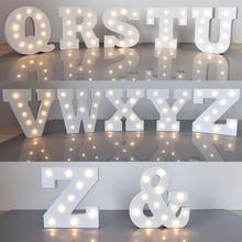 Battery Operated LED Night Light Lamp Marquee Letter Lights Vintage Alphabet Light Up Christmas Party Decor Wall Lamp lumiparty led reindeer night light cordless night table lamp christmas wall marquee sign with 8 led lights for christmas