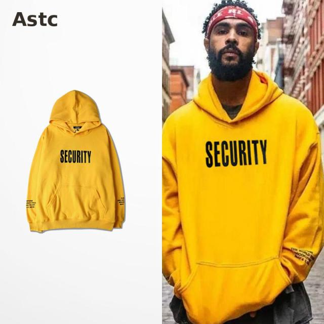 Vfiles Security Print Hoodie Justin Bieber  Fog High Street Sweatshirt  Bibb  Purpose Tour Yellow Hoodie Fear Fo God  Couple Bts