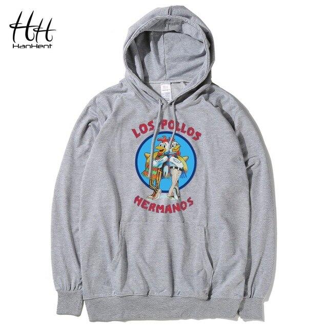 HanHent Breaking Bad Sweatshirts Los Pollos Hermanos Thin Hoodies Men Chicken Brothers Man Hoody Sitcoms Swag Hooded Rock HO0418