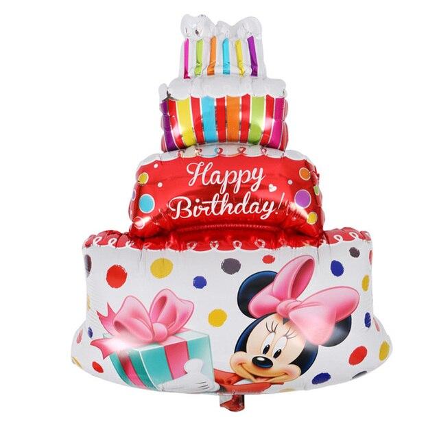 1pc 6085cm Mickey Minnie Mouse Happy Birthday Cake 1st Birthday