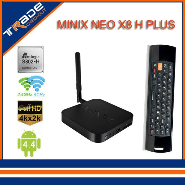 MINIX NEO X8h plus Android 4.42Smart TV Box Amlogic S812 Quad Core 2.0GHz 2G/8G 2.4G/5GHz WiFi XBMC Player IPTV Mini PC+mele f10