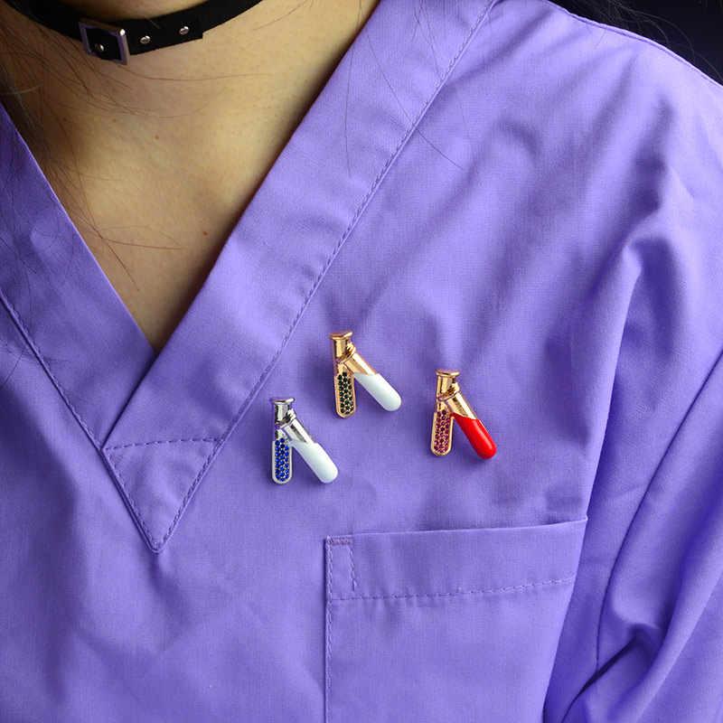 โลหะทางการแพทย์ PIN Doctor Badge หลอดทดสอบ Reflex HAMMER เข็มฉีดยารถพยาบาลเครื่องวัดความดันโลหิต Neuron Caduceus ลำไส้เข็มกลัด