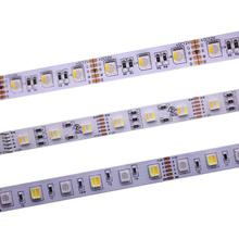 12 ミリメートル PCB RGBCCT LED ストリップ 5050 12 V/24 V 4in1 5 色 5 in1 チップ RGB + WW + CW 60 LEDs/メートル 5 メートル/ロット RGBW RGBWW LED ストリップライト 5 メートル/ロット。