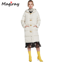 Magiray 2019 New Harajuku Winter Jacket Women Parka Female Long Coat Cotton Thick Overcoat Plus Size Warm Hooded Solid Coat C355