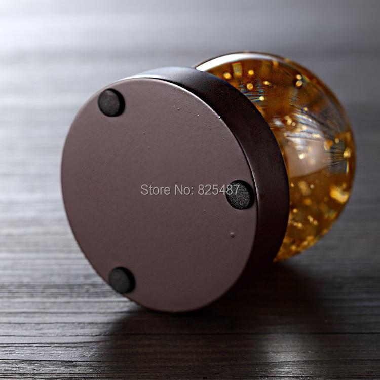 Flocons d'or boule de neige de luxe Souvenir Globe de verre d'eau 24K feuille d'or meilleur cadeau pour les affaires riche boule de neige Feng Shui - 6