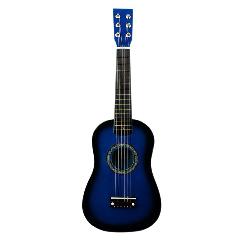 Acoustic-Guitar Pick-And-Strings Basswood 12-Frets Blue Mini Beginner with for