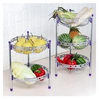 Multi functional kitchen shelves Iron Fruit Basket Stand holder for store vegetable,spice,bread in kitchenroom