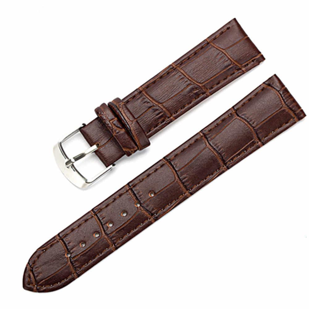 8 10 12 14 15 16 17 18 19 20 mm Genuine leather watchband watch belt strap wristwatches band  female red white black