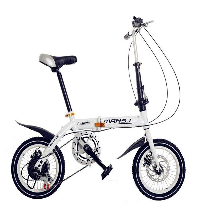 2019 le plus récent!! 14 16 pouces vélo pliant vitesse double freins à disque ultra léger hommes et femmes mini enfants vélo VTT