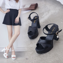 2019 Fashion Women Sandals Summer New Hot Female Fish Mouth Exposed Toe High-Heeled Romanesque Ladies Shoes