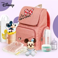 Disney Oxford Cloth Diaper Storage Bag Bottle Feeding Insulation Mommy Bag Backpack Fashion Waterproof Large Capacity Diaper Bag