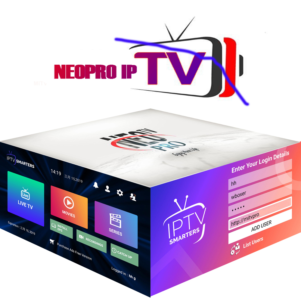 Neo Pro IPTV Subscription Arabic Europe France Italian Polish Albania Uk Spanish Sports Iptv Code M3U Free Test
