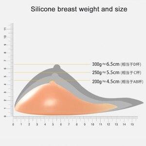 Image 4 - Silikon Meme Formları ve 95C Ön Fermuar Açık Mastektomi Sütyen Yapay Spiral Meme Sahte Meme Protezi Mor Sütyen D40