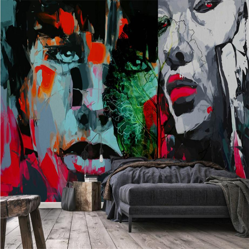 living room decor custom 3 d modern wallpaper studio desktop abstract bar murals home de ...