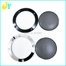 100pcs 4 inch DIY Loudspeakers Protective Cover Nets Speaker Decorative Circle Sound Box Protective Grille(China)