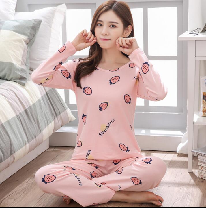 Factory Sale 2018 WAVMIT Women Pajamas Suits Lovely Home Suit Sleepwear  Sleeve Pyjamas Comfortable Girl Pijamas Mujer