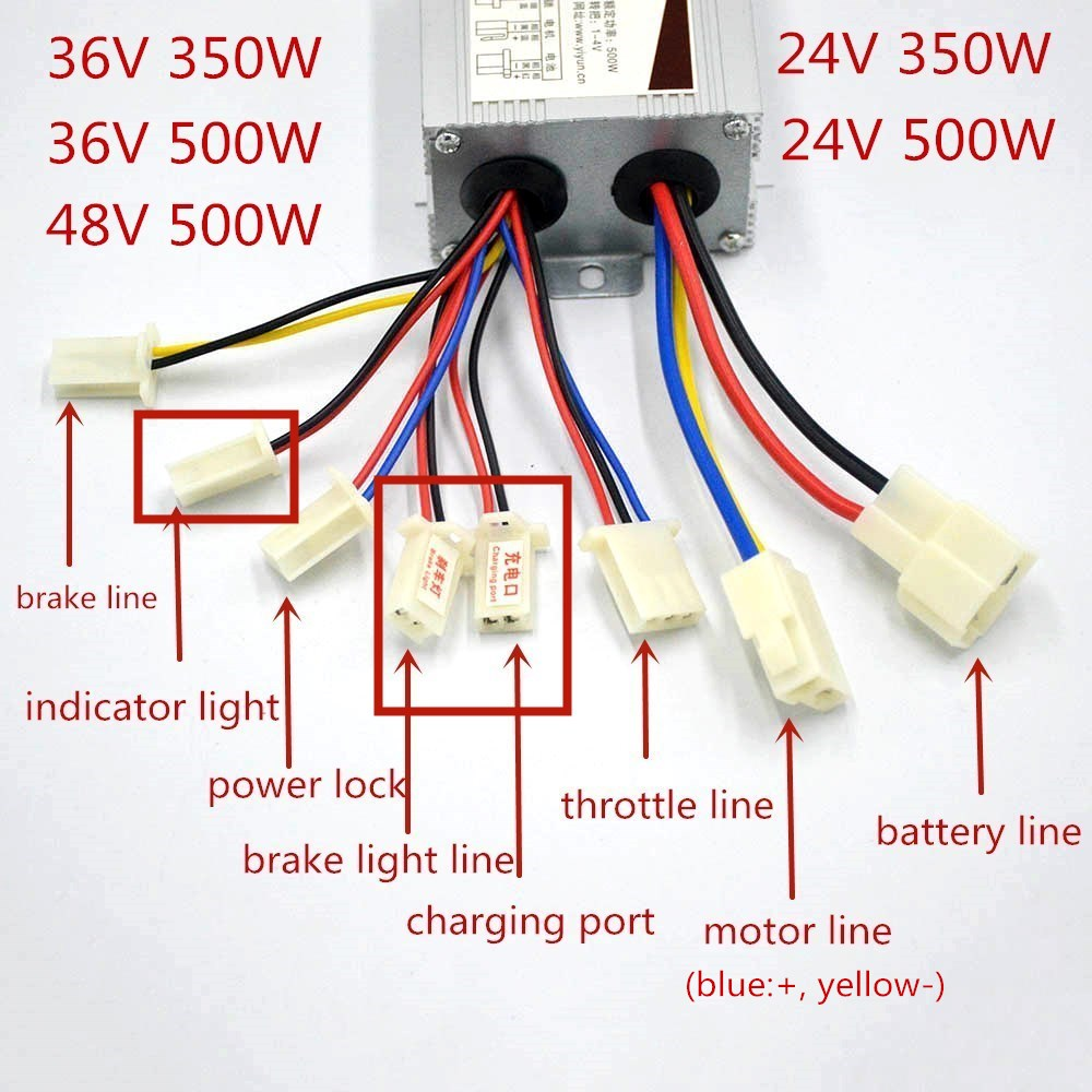 24V 350W// 24V 500W// 36V 500W Electric Scooter Speed Controller Motor For E-bike