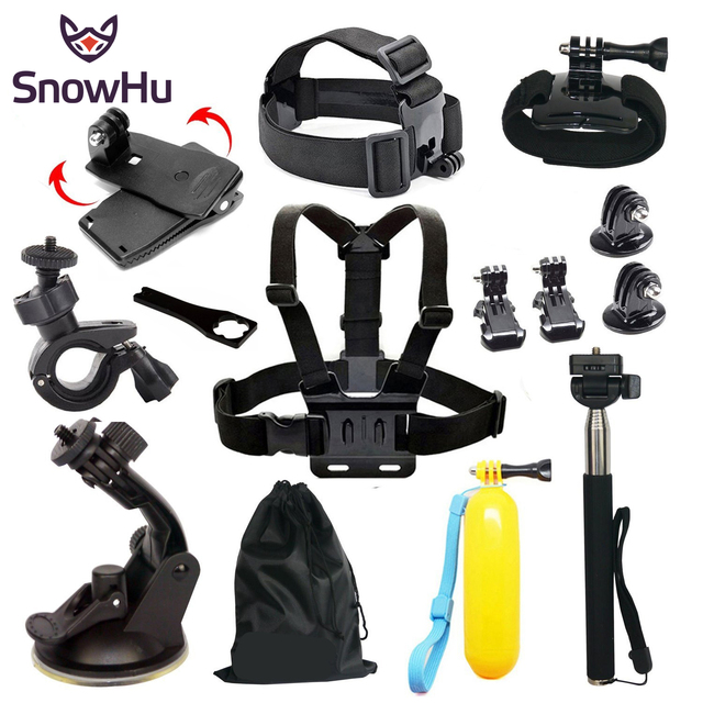 GoPro accessories 13 in 1 Set Family Kit Go Pro  SJ5000 SJ6000 accessories package for GoPro HD Hero 5 5S 3 3+ 4 xiaomi yi GS01