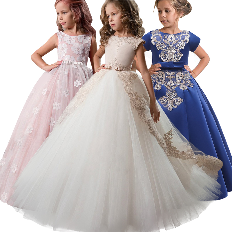Flower     Girl's   Birthday Banquet Lace Stitching   Dress   Elegant   Flower     Girl   Wedding Party First Petal   Dress   for the Eucharist