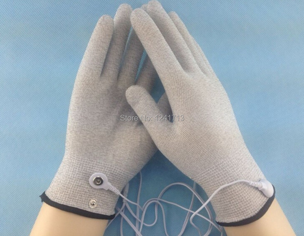 Image 2 - 40pcs (20pair) Electrode gloves,Beauty gloves, Silver Thread Conductive Gloves for Use with Tens/Acupuncture Massage gloves-in Massage & Relaxation from Beauty & Health