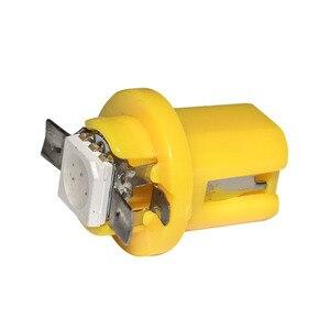 Image 5 - 100 adet T5 B8.5D Led araba ışık enstrüman ışıkları kama ampul t5 B8.5 5050 SMD LED otomatik ölçer pano yan İç lamba 12V 100X