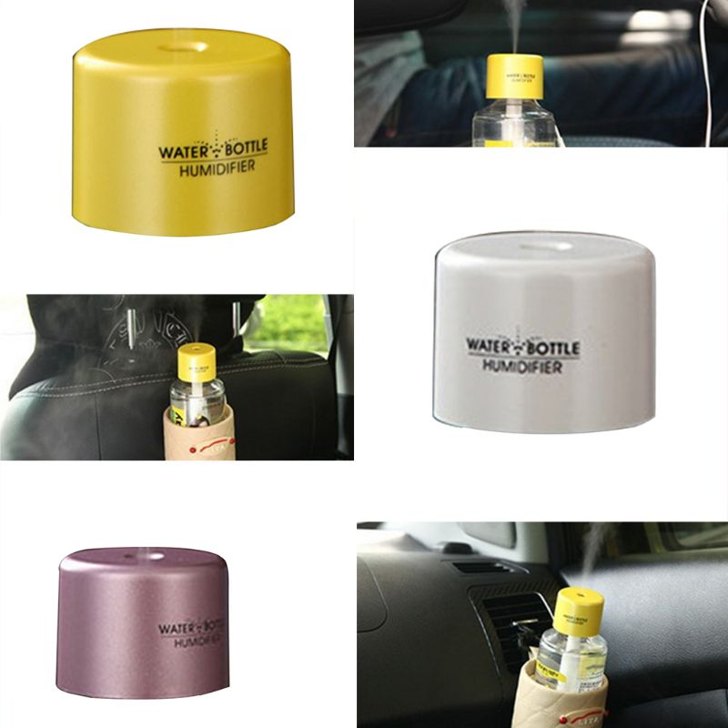 USB Portable Mini Water Bottle Caps Humidifier Aroma Air Diffuser Mist Maker