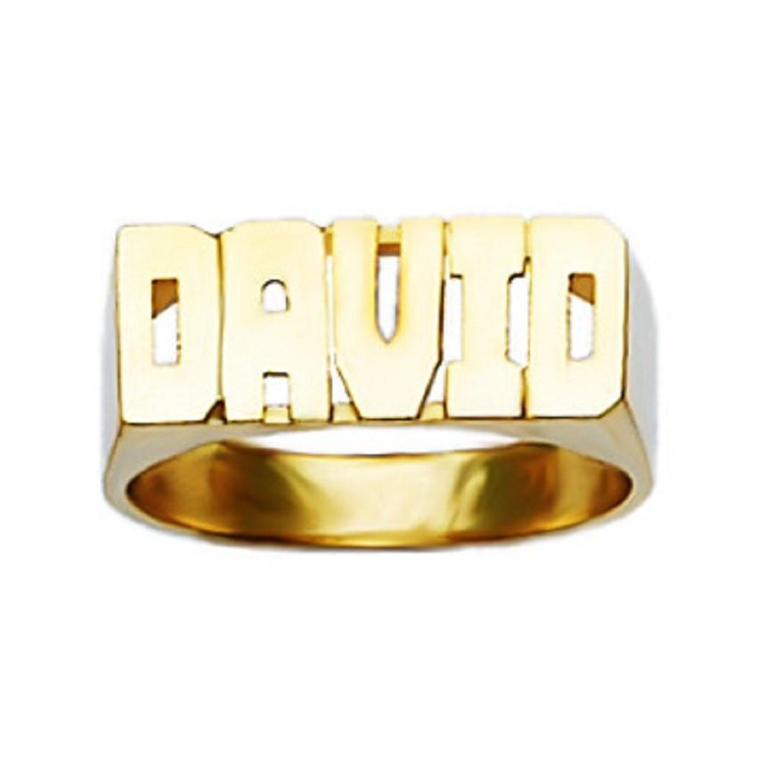 3UMeter nom anneau Script personnalisé anneau 18kt & 14kt or personnalisé anneau bijoux ancien anglais police pour les femmes pour cadeau