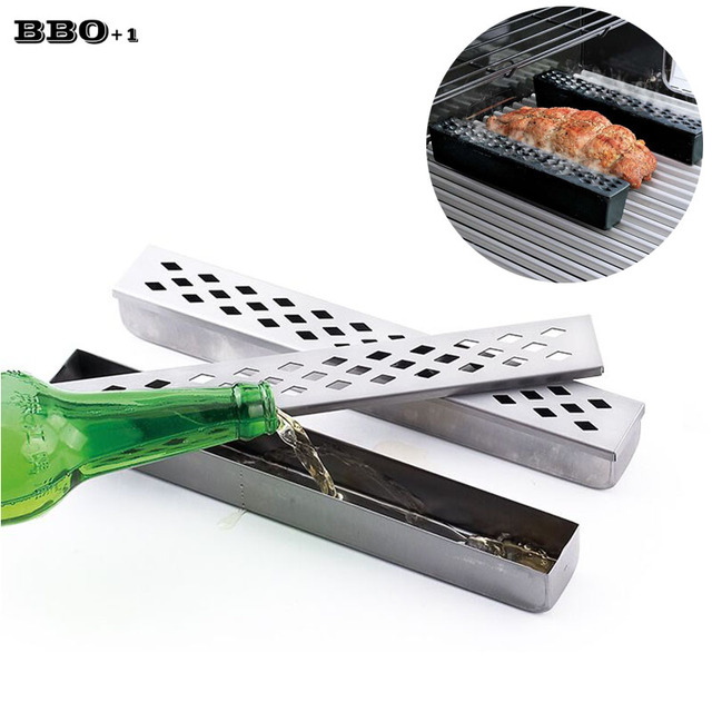 Stainless Steel Barbecue Grill Humidifier BBQ Accessories Cold Smoke Generator Cooking Tools Cold Smoking Box Meat Fish Salmon