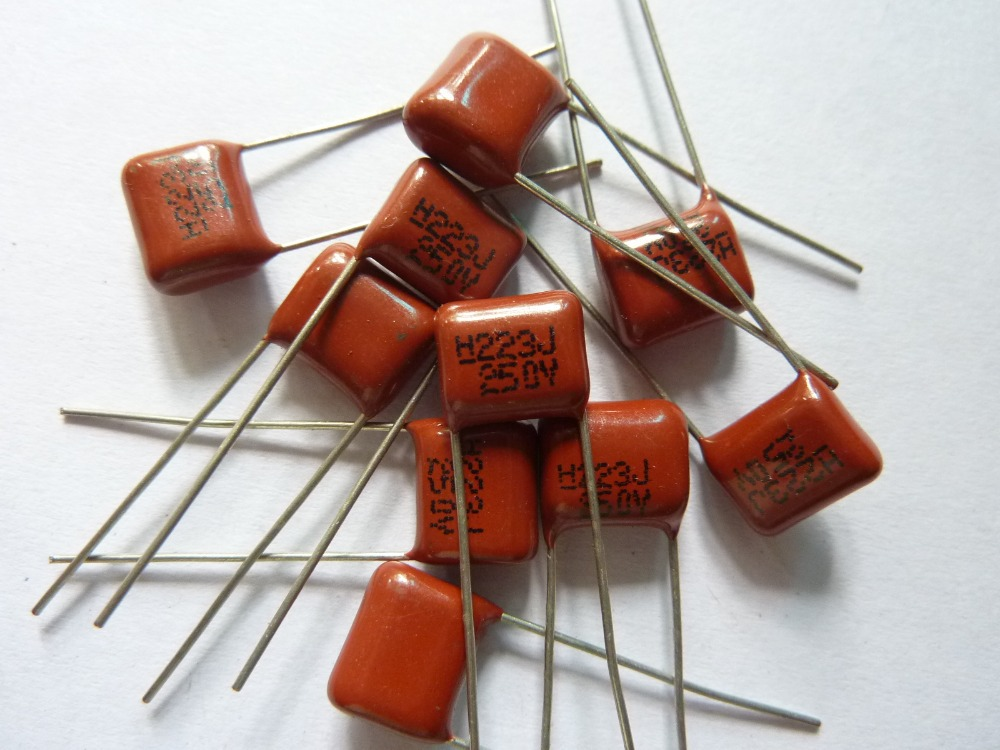 10pcs CBB 223 250V 223J CL21 0.022uF 22nF P8 Metallized Polypropylene Film Capacitor