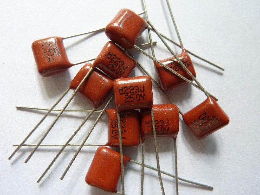 50PCS X 100V 22NF 22000PF 5/% Mylar Film Capacitors Good quality 2A223  J