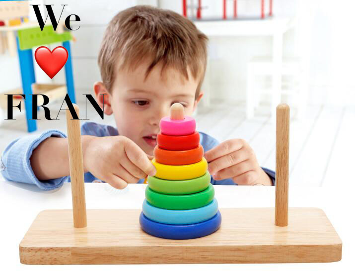 Wooden Tower Toy Stacker Extract Building Educational wooden kissing pigs toy