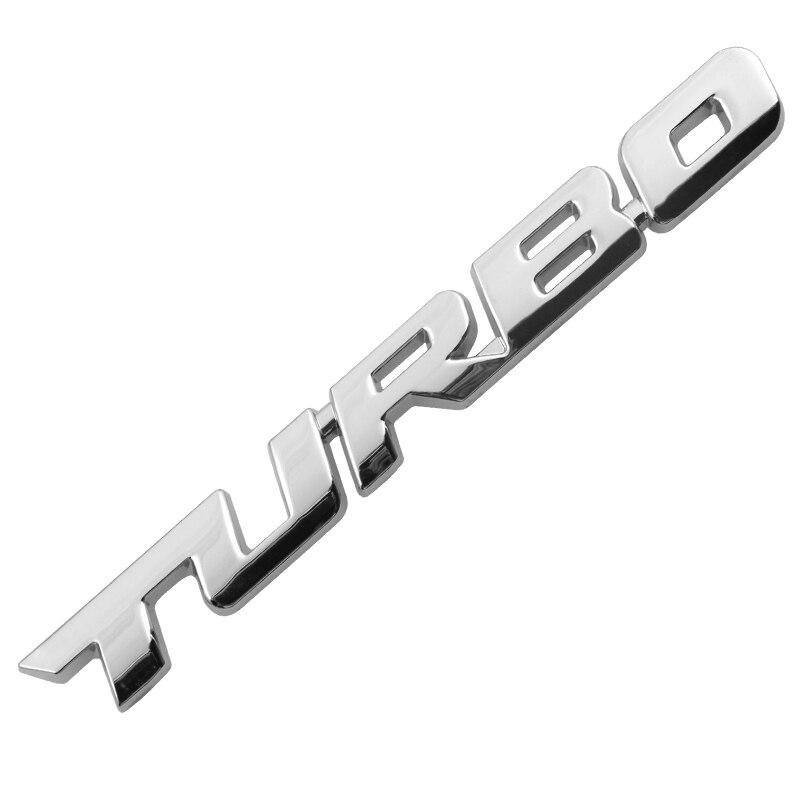 3D металлический турбо автомобильный стикер эмблема значок для Jeep BMW Ford Volvo Nissan Mazda Audi Honda автомобиль Лада Kia Chevrolet DS автомобильный Стайлинг